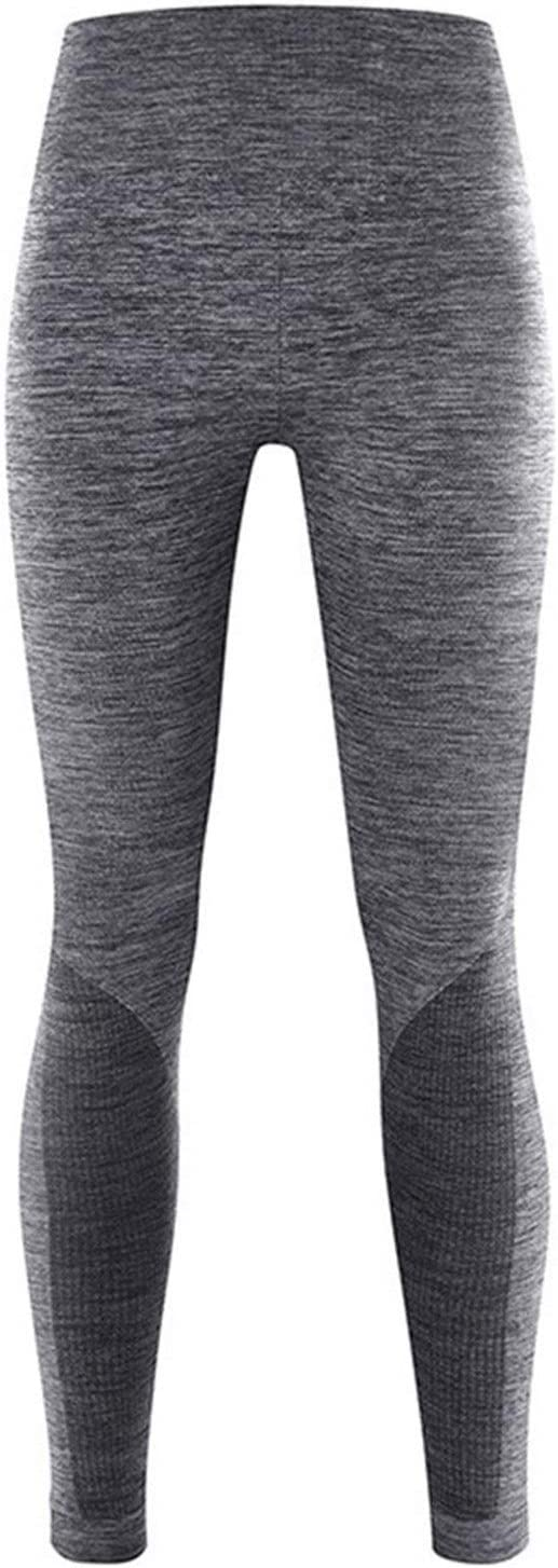 QWERBAM Winter Thermal Underwear Women Elastic Breathable Female Casual Warm Set (Color : Grey Pants, Size : Large)