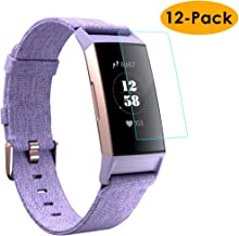 KIMILAR Pantalla Compatible con Fitbit Charge 3 Protectores de Pantalla, Cobertura Completa Flexible Screen Protector para Fitbit Charge 3 & Special Edition - Anti-Scratch, Cristalina, Anti-Burbuja