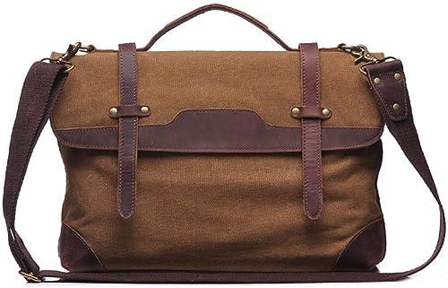 HXZB Herren-Handtasche Leinwand-Tasche Einzel-Schultertasche Retro Men Messenger Bag