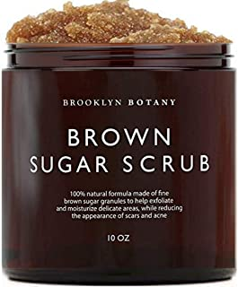 Brooklyn Botany Brown Sugar Body Scrub - Great as a Face Scrub & Exfoliating Body Scrub for Acne Scars, Stretch Marks, Foo...