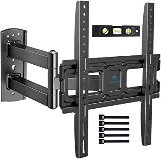 PERLESMITH TV Wall Mount Bracket Full Motion Single Articulating Arm for Most 32-55 inch LED LCD OLED Flat/Curved Screen T...