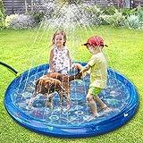 Tomight Tapis d'eau Gonflable, Tapis Splash pour Arroseurs pour Enfants 60 '', Tapis de Pulvérisation d'Eau De Piscine, Motifs de Jardin/Plage/Extérieur/Dessin Animé