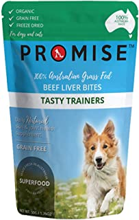PROMISE Pet Treats - Organic Beef Liver Bites/Tasty and Healthy Bites for Dogs - High in Amino acids, Iron and Vitamin A