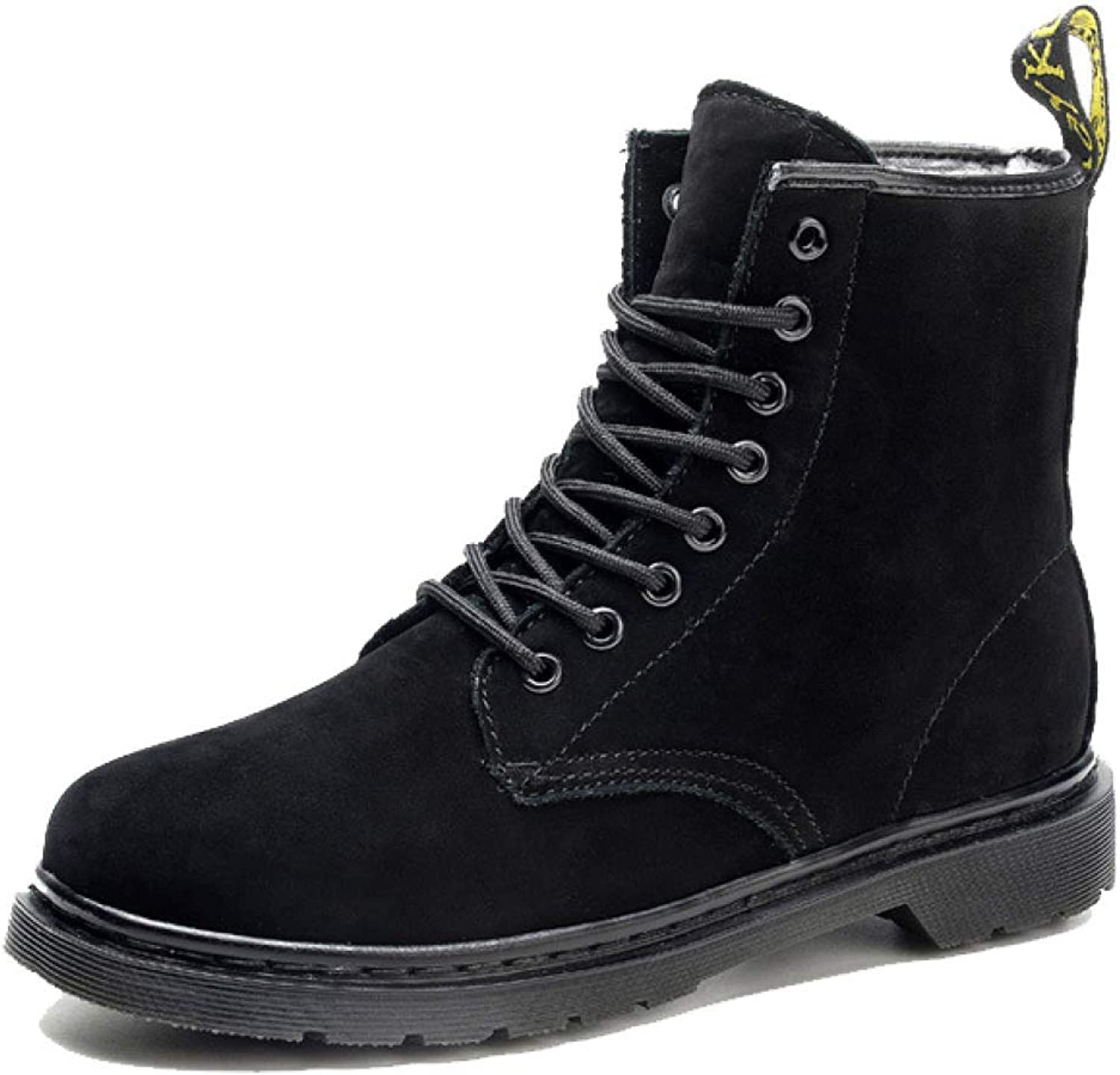 LYZGF, Men, Martin Boots, Casual, British, Fashion, Youth, Lace, Leather Boots