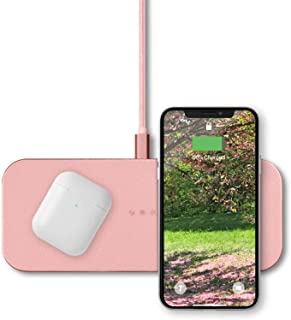 Courant Catch:2 QI Certified Wireless Charger Station for Multiple Devices, Compatible to Dock with Apple iPhone 12/11 Pr...