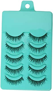 Electomania® 5 Pairs Fashion Beauty Makeup Handmade False Eyelashes Messy Cross Style
