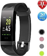 Letsfit Fitness Tracker HR, Color Screen Heart Rate Monitor Watch, Smart Activity Tracker Watch, IP68 Standard, Step Calorie Counter, Sleep Monitor, Pedometer Watch for Women Men Kids