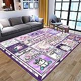 IOWLDMW Alfombras Salon Grandes Unicornio de Dibujos Animados Azul Rosa Blanco Alfombra Salón Pelo Corto Diseño Alfombra Vintage Style para Comedor Pasillo y Habitación 120 x 170 cm
