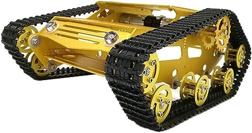 F Fityle Intelligente Robotik Kesselwagen Chassis Kits Track Crawler mit 9V Motoren für Arduino Wissenschaft Lernspielzeug