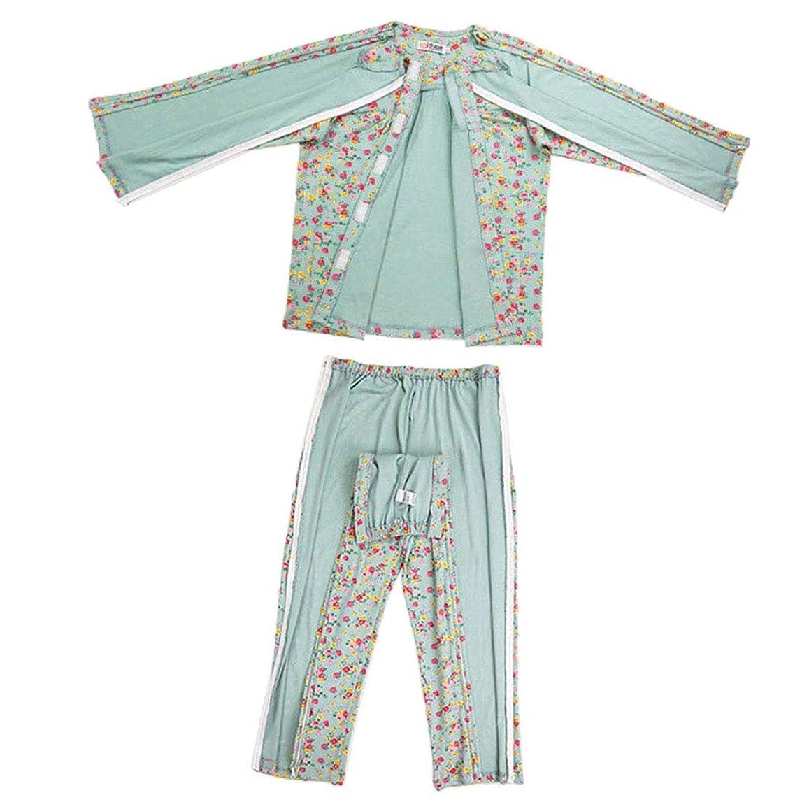 パットポジティブエネルギーPerfeclan 患者衣 患者服 看護トップ 看護ズボン 女性 綿製 パジャマ 4サイズ選べ
