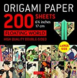 """Origami Paper 200 sheets Floating World 6 3/4"""" (17 cm): Tuttle Origami Paper: High Quality, Double-Sided Origami Sheets with 12 Different Prints (Instructions for 6 Projects Included)"""
