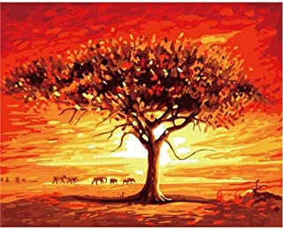 ZOOLD Oil Painting Desert Landscape DIY Digital Painting Wall Art Picture Home Decoration Living Room Wall Art 40X50Cm