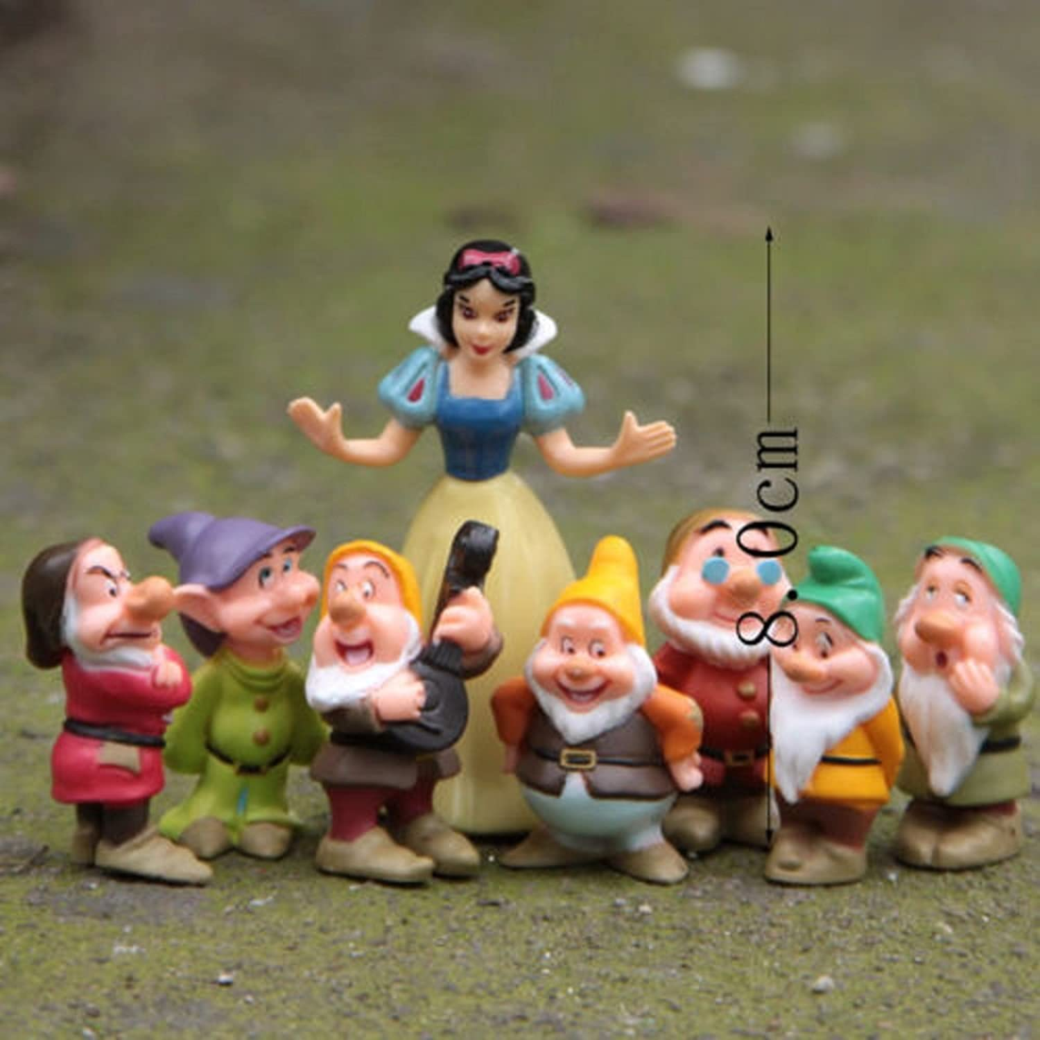 Snow White and the Seven Dwarfs Figures Cake Topper Doll Playset 8pcs Set New