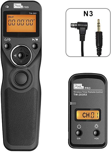 PIXEL Disparador inalámbrico Cable Disparador TW-283/N3 Mando a Distancia para Canon EOS cámaras Digitales
