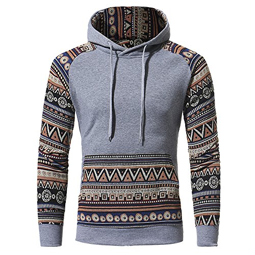 PRJN Mens Hoodies Sweatershirt Ethnic Style Geometric Folk Design 3D Printing Long Sleeve Casual Sweatershirt Tops Mens 3D Printed Long Sleeve Hoodies Cool Jacket Sweatshirts with Big Pockets
