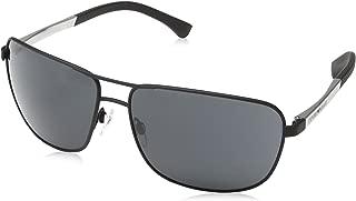 Kính mắt nữ cao cấp – EA2033 3094/87 Matte Black EA2033 Square Pilot Sunglasses Lens C
