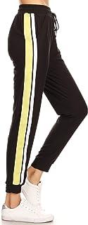 LA12ST Women's Juniors Soft Jogger Pants Drawstring Pockets