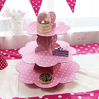 Nesee 3 Tier Baby Cute Shark Cardboard Cupcake Stand Dessert Cupcake Holder for Kids Birthday Party, Baby Shower, Gender Reveal Party,Baby Christmas Themed Party