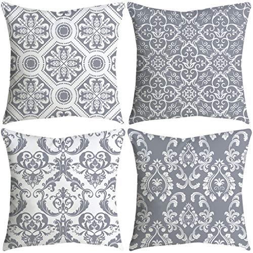 FeiliandaJJ 4PCS Kissenbezug, kissenhülle Kopfkissenbezug Home Dekoration Pillowcase Super weich Sofakissen für Wohnzimmer Sofa Bed,45x45cm (H)