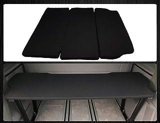 BREMER Fundas de asiento multiflexboard incluye colchón de extensión de cama compatible con VW T5 & T6 Multivan Uninegro