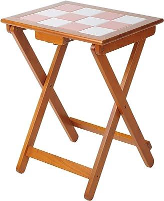 Vlush 折り畳みテーブル 折りたたみサイドテーブル 高さ70cm ライト ブラウン