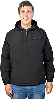 Men's Pullover Rain Jacket Hooded Windbreaker Raincoat Waterproof Lightweight