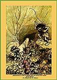Arthur Rackham Alberich (Mythologie) Antrieben in eine Band