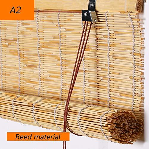 XZPENG Ciegos de bambú Cortinas Romanas decoración del hogar filtrar la luz Persiana Pasillo Cortina, 2 Colores, 23 Tamaños de Apoyo de personalización (Color : B, Size : 100X120CM)