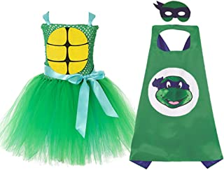 Girls Superhero TMNT Costume Halloween Role Play Outfits