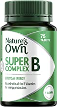 Nature's Own Super B Complex - Assists in Energy Production - Supports Immunity, Heart and Nervous System, 75 Tablets