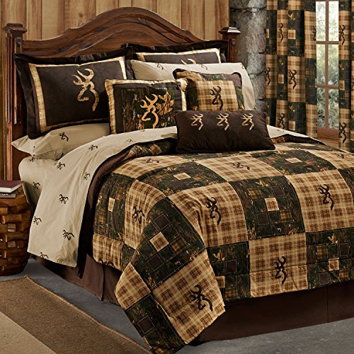 Browning Country 8 Pc King Bedding Set & 1 Valance/Drape Set (1 Comforter, 1 Flat Sheet, 1 Fitted Sheet, 2 Pillow Cases, 2 Shams, 1 Bedskirt, 1 Valance/Drape Set)