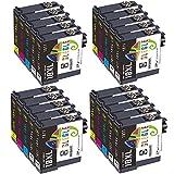 GLEGLE 18XL Cartuchos de Tinta Reemplazo para Epson 18 18 XL Compatible con Expression Home XP-205 XP-215 XP-225 XP-305 XP-322 XP-325 XP-405 XP-415 XP-422 XP-425 XP-315 XP-312 XP412 (Paquete de 20)