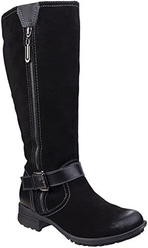 Fleet & Foster femmes Ladies Tokyo Leather Pull On Zipped Long bottes