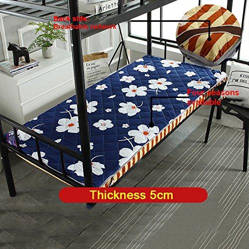 Nclon Extraíble Plegable Espesar Economía Colchón. Esteras del Tatami para Estudiante Individual Dormitorio Literas Dormitorio-E 100x190cm(39x75inch)