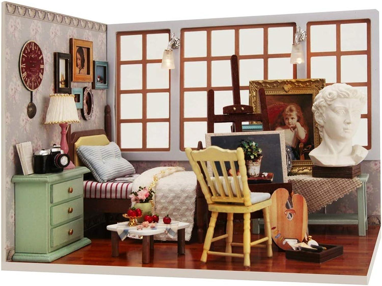 minoristas en línea Kit de casa de muñecas DIY Casa de de de muñecas en miniatura con muebles de madera DIY Juego de casa de muñecas1  24 Idea de la habitación creativa Casa de bricolaje exquisita Kits de artesanía de la casa  Envío rápido y el mejor servicio