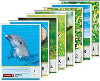 Baier & Schneider – Cuaderno de animales, kopfverleimt, 8 cm de perforación, 80 g/m², A5, Karie