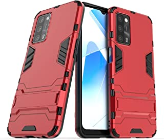 RanTuo Case for vivo V21 5G, TPU + PC Hybrid Armor 2 in 1 Double Protective Cover, With Bracket, Cover for vivo V21 5G.(Red)