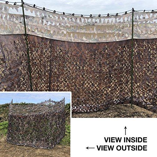 Nitehawk - Tarnnetz mit transparenter Oberseite - für die Jagd - 4m x 1,5m