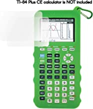 Silicone Case for Ti 84 Plus CE Calculator (Green) - Cover for Texas Instruments Ti-84 Graphing Calculator - Silicon Skin for Ti84 Plus - Protective & Anti-Scretch Cases - Ti 84 Accessories by Sully