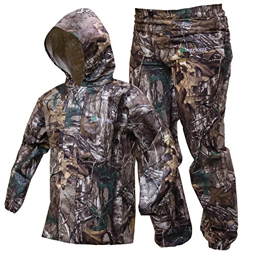Best Buy! Frogg Toggs Polly Woggs Waterproof Breathable Rain Suit, Youth, Realtree Xtra, Size Medium