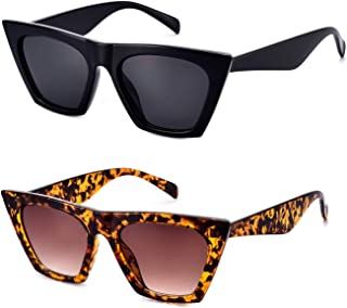 Square Cateye Sunglasses for Women Fashion Trendy Style MS51801
