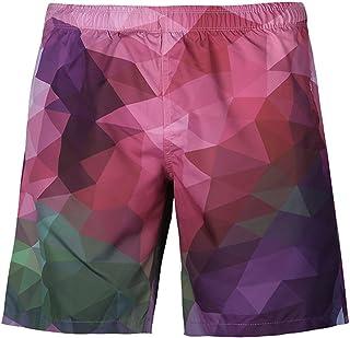 85cb603824 Mens Swim Trunks Fxbar,Men's Fashion 3D Geometric Printed Beach Shorts Pants  Loose Fit Quick