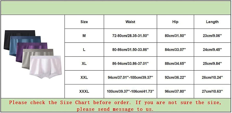 Men's Multicolor Underwear Comfort Soft Bamboo Long Boxer Briefs Elastic Waist Trunks Knit Boxers M-3XL