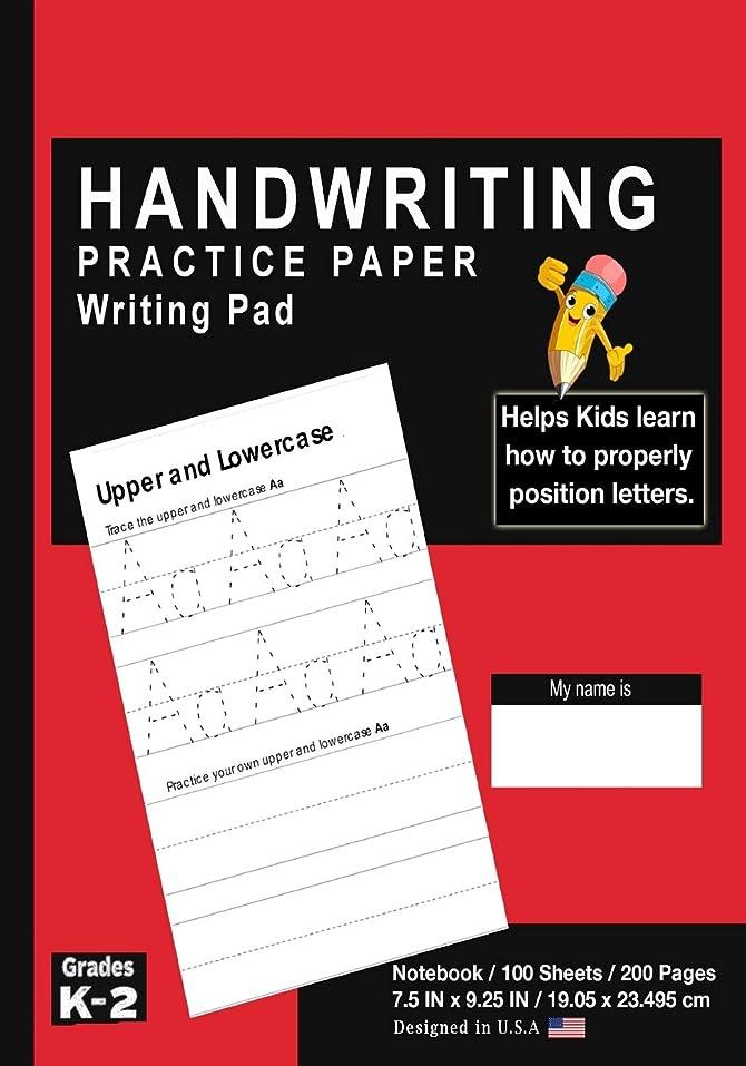 エネルギー一回精巧なHandwriting Practice Paper Writing Pad: Solid Red - Kids Primary Journal Writing Tablet Notebook - For Learning Upper & Lowercase Alphabet ABC's - For Home & School [Classic]