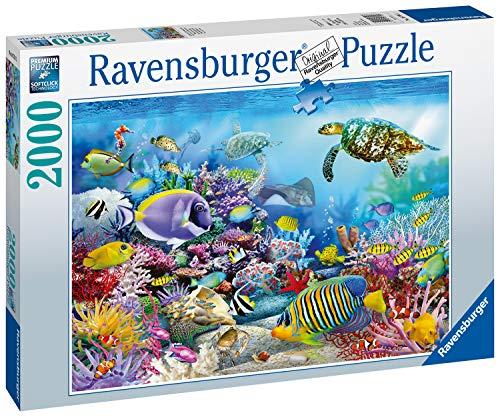 Ravensburger Puzzle 2000 Pezzi, Barriera Corallina, Collezione Foto e Paesaggi, Jigsaw Puzzle per Adulti, Puzzles Ravensburger - Stampa di Alta Qualità, Dimensione Puzzle: 98x75cm