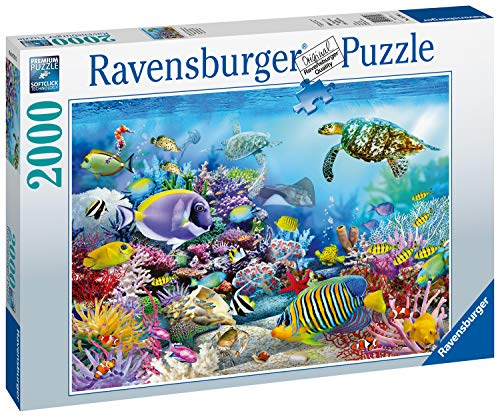 Ravensburger Coral Reef Majesty 2000 Piece Jigsaw Puzzle for Adults - Every Piece is Unique, Softclick Technology Means Pieces Fit Together Perfectly