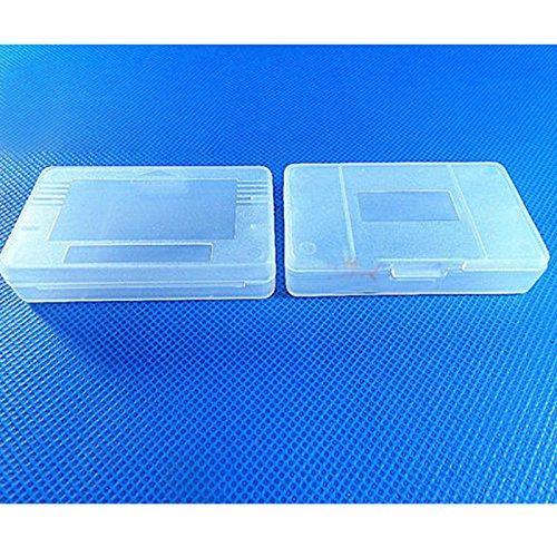 Zhhlinyuan 10pcs Hard Clear Plastic Cartridge Cases Games Cartridge box pour Gameboy Advance SP Cartridge Protective Box 3695#