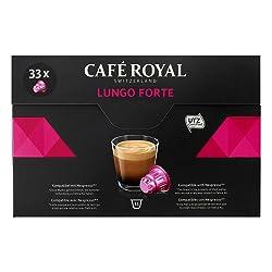 Café Royal Lungo Forte 33 Nespresso kompatible Kapseln (Intensität 8/10) 1er Pack (1 x 33 Kaffeekaps