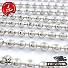 Godecco Roller Blind Shade Control Chain - Metal Size #10 - Nickel Plated Steel - 32ft Length