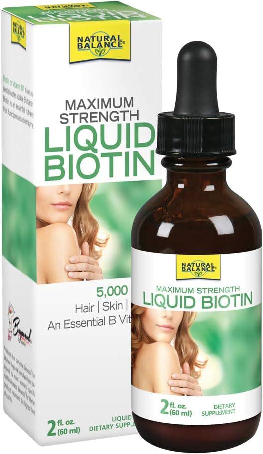 Natural Balance Deluxe Biotin Liquid 5000mcg Supplement Topics on TV Healthy Hair